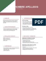 Nueva Plantilla Curriculum Vitae Granate Franjas