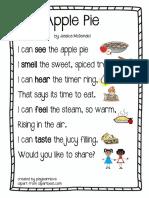 Apple Pie Poem