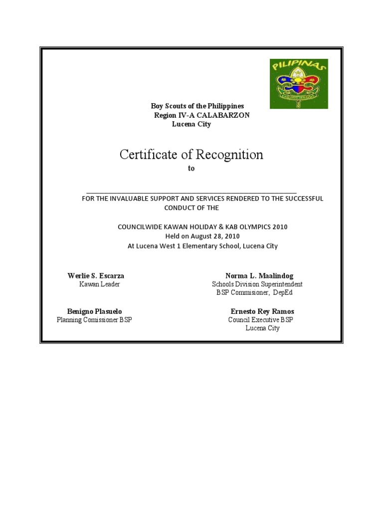 Boy scouts of the philippines certification yadclub Images