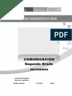 Evaluación diagnóstica COMUNICACIÓN - 2° GRADO v2
