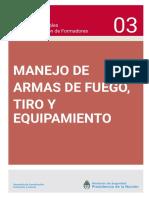 03_manejo de Armas de Fuego, Tiro y Equipamiento