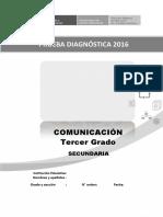 Evaluación diagnóstica COMUNICACIÓN - 3° GRADO v2