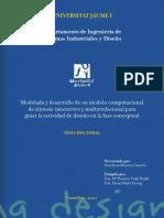 Modelado y desarrollo de un modelo computacional de síntesis interactivo y multirrelacional para guiar la actividad de diseño en la fase conceptual