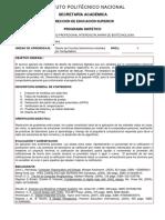 Plan de estudios de Diseño de Circuitos Electrónicos Asistidos Por Computadora 2