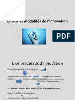 Enjeux Et Modalites de l Innovation