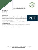 Ficha Tecnica - Base Lanette