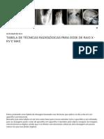 Radiologia_ Tabela de Técnicas Radiológicas Para Dose de Raio x - Kv e Mas