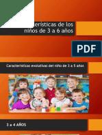 Caracteristicas Del Niño de 3 a 6 Años