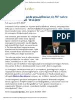ConJur - Gilmar Pede Providências Do MP Sobre Procuradores Da _lava Jato