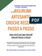 Amigurumi Artesanto - Croche Passo a Passo - AmiguRumi RECEITAS Passo A Passo [ Leia antes de comprar]