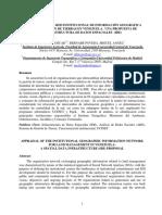 EVALUACIÓN DE LA RED INSTITUCIONAL DE INFORMACIÓN GEOGRÁFICA PARA LA GESTIÓN DE TIERRAS EN VENEZUELA.  UNA PROPUESTA DE  INFRAESTRUCTURA DE DATOS ESPACIALES  (IDE)