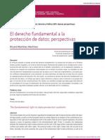 Derecho de Protección de Datos- Martinez