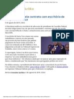 ConJur - Petrobras Cancela Contrato Com Escritório de Felipe Santa Cruz