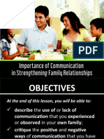 Importance of Communication in Strengthening Family Relationships