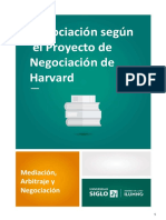 Negociación Según El Proyecto de Negociación de Harvard
