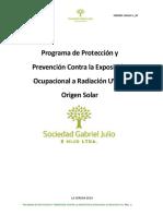 Programa de Protección a Radiación UV Sociedad Gabriel Julio
