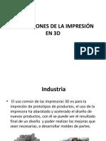 Aplicaciones de La Impresión en 3d