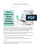 How to Create Your 90 Day Success Plan Network Marketing Secret