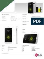 G5 Spec Sheet ENG