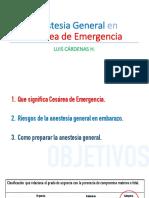 Anestesia General Cesarea Emergencia Luis Cardenas