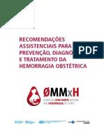 Recomendação Assistência para prevenção diagnostico e tratamento da hemorragia obstétrica
