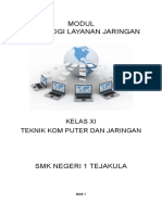 Modul Teknologi Layanan Jaringan XI TKJ Genap