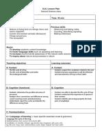 Clil Lesson Plan Template