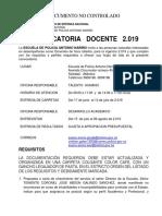 Convocatoria Docente 2019 - Policía Nacional