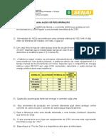Avaliação Recuperação Mdic - Id 15165
