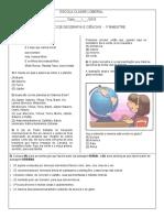 avaliação geografia e ciências 1º bim