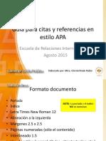 Guía para citas y referencias en estilo APA