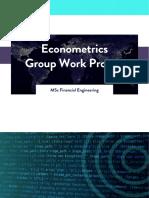 WQU Econometrics Group Work Project