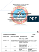 Actividad en Parejas Principiantes IV