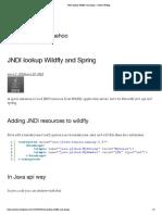 JNDI Lookup Wildfly and Spring – Jaehoo Weblog