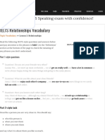 Advanced IELTS Vocabulary to Talk About Relationships