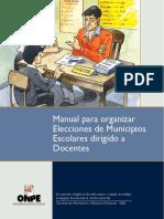Manual de Municipios Escolares para docentes