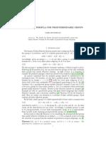 Schreier's Formula for Prosupersolvable Groups