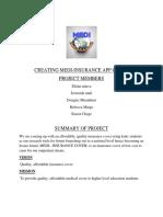 Creating Medi Insurance App Cover