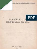 Manualul Bibliotecarului Comunal 1977