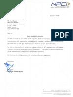 NPCI Letter to IFF