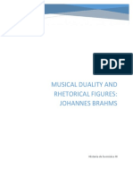 Musical Duality and Rhetorical Figures of Johannes Brahms