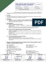 OPE-PR-750-041-0 Muestreo, Curado y Ensayo de Testigos Shotcrete