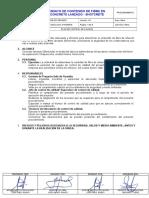 OPE-PR-750-042-0 Ensayo de Contenido de Fibra Del Shotcrete