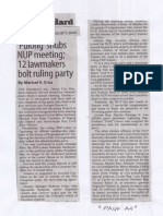 Manila Standard, Aug. 7, 2019, Pulong snubs NUP meeting 12 lawmakers bolt ruling party.pdf