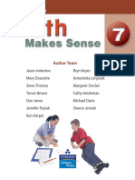 Pearson Math Makes Sense 7