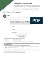 Teradata SQL Assistant Web Edition Tutorial