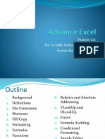 Advance Excel - Part 1 of 2