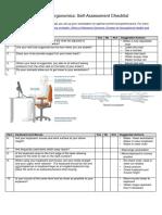 Computer Work Station Assessment Check List