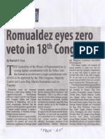 Manila Standard, Aug. 7, 2019, Romualdez eyes zero veto in 18th Congress.pdf
