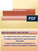 7. Model and Die Materials